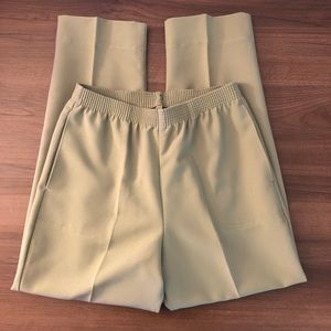Vintage Pistachio High Waist Trousers Pants
